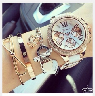 jewels watch bracelets stacked bracelets bow bows jewelry