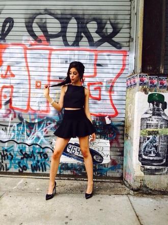 top camila cabello fifth harmony black top skirt