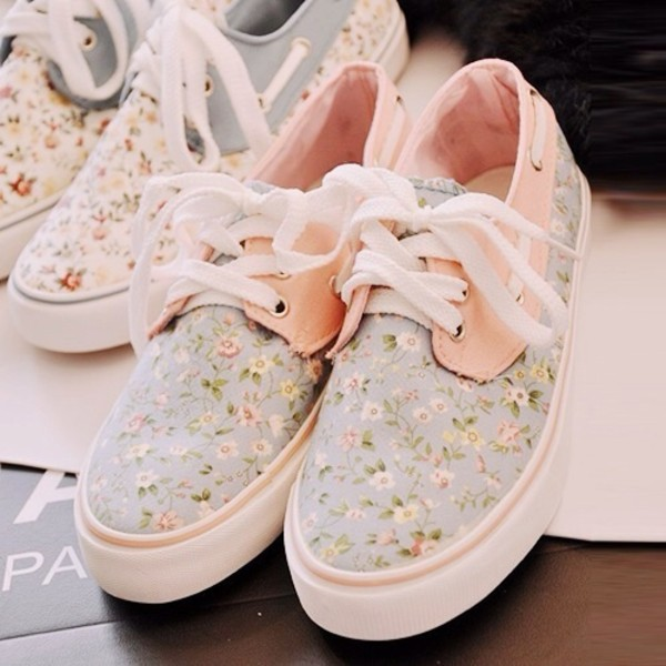 shoes floral flowers peach cute nike roshe run cute shoes