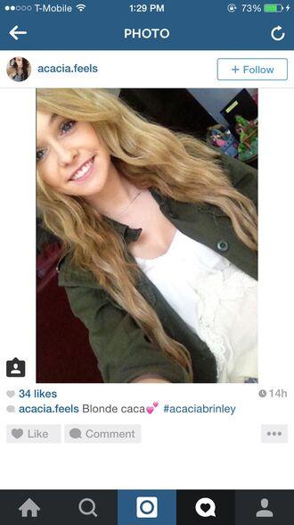 cardigan acacia brinley green jacket blonde hair