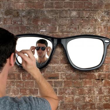 Miroir cool en forme de lunettes de soleil