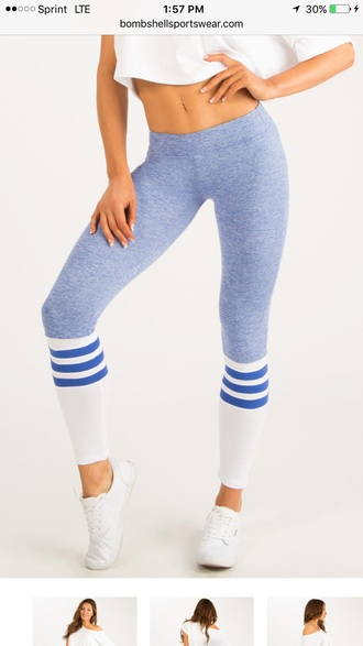 pants leggings blue