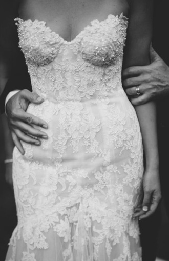 dress wedding wedding dress 2015 bride bridal mermaid style beaded hipster wedding lifestyle love