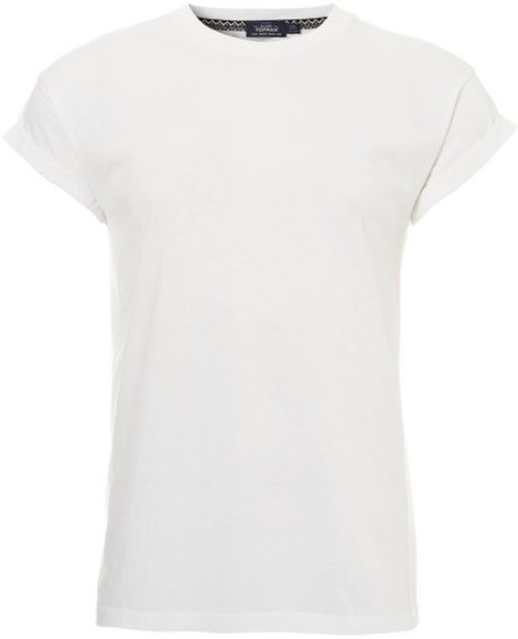 roll-up t-shirt white tshirt roll up sleeves tee,t-shirt,tshirt, white, roll up sleeve, muscle tee,