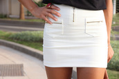 skirt,bodycon,zipped skirt,pockets