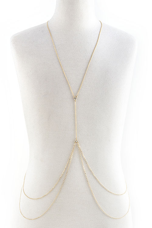Double layered chain link body chain