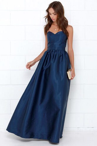 dress silk maxi sleeveless navy blue fashion cute lovely gorgeous maxi dress prom