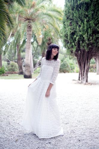 che cosa blogger dress shoes white dress lace dress romantic