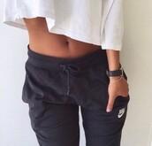pants,black,vintage,sweats,nike,leggings