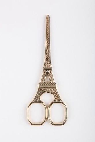 jewels scissors hair accessory eiffel tower cool tumblr pinterest instagram home accessory home decor paris cute