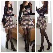 cute,skater,dress,cute dress,fall outfits,fashion,kawaii,girly,clothes