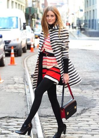 coat olivia palermo striped coat