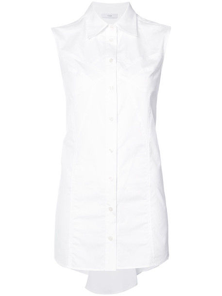Tome shirt button up shirt women white cotton top