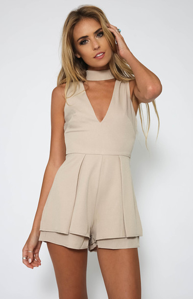 Jumpsuit Romper Halter Playsuit Halter Jumpsuit Women Jumpsuits