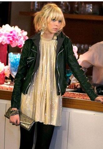 dress gossip girl gold