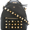 Fendi studded backpack, black, calf leather