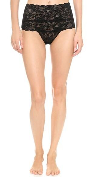 thong high black underwear