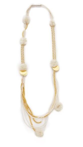 necklace cream jewels