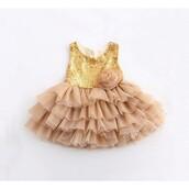 dress,gold,honeycocaine,tutu dress,flowers,back