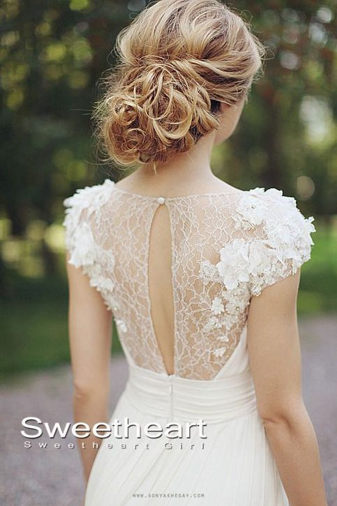 Charming white lace wedding dresses, lace prom dresses, evening dress