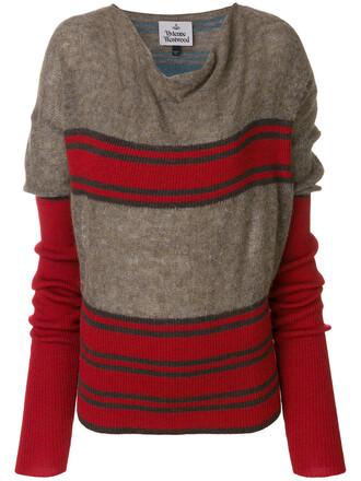 jumper women wool knit brown sweater