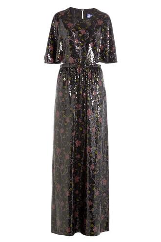 dress maxi dress maxi embellished silk multicolor