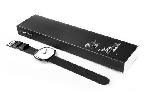 Orologio da polso Stone bianco con quadrante di 42 mm - Orologi di design - NAVA
