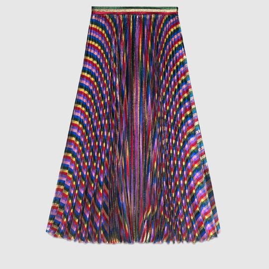 86dedd1283 Gucci Iridescent pleated skirt