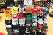hat,bert,ernie,sesame street,cap,snapback,cookie monster,elmo,spongebob,patrick star,spiderman