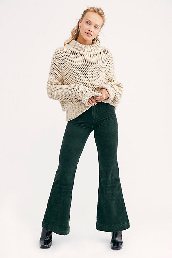 Rolla's East Coast Wide-Wale Cord Flare Jeans at Free People