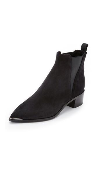 suede booties booties suede black shoes