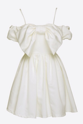 dress white white dress summer dress prom dress bows short dress short prom dress