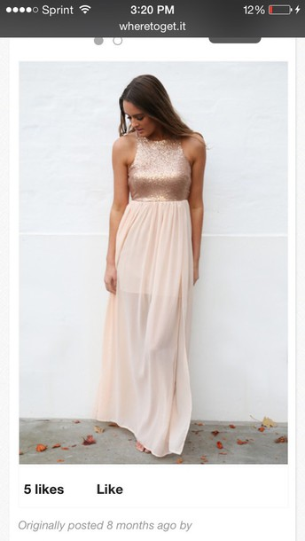 dress gold dress semi formal dress long dress