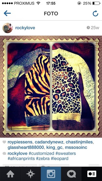 animal print sweater customized