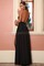 Long party dress with 2 high slits in black buy sexy party dresses online, hot, new party dress in black, red, pink, gold..