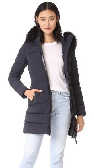 jacket down jacket navy