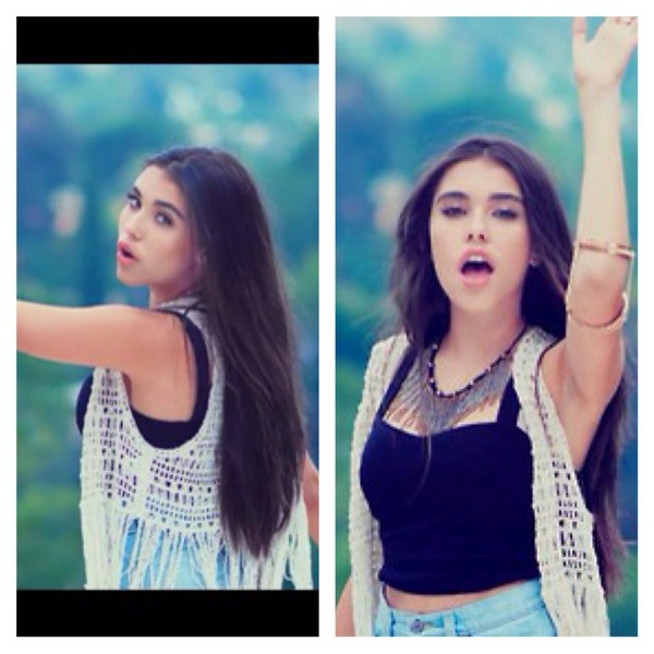 cardigan madison beer white black jewels