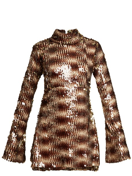 HALPERN dress high embellished animal