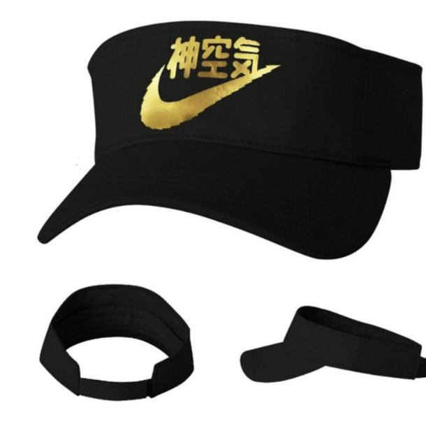 hat nike nike air black dope tumblr sadboys visor 5536f28bd16