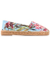 shoes,dolce and gabbana,espadrilles,canvas,flowers
