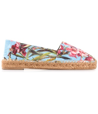 shoes dolce and gabbana espadrilles canvas flowers