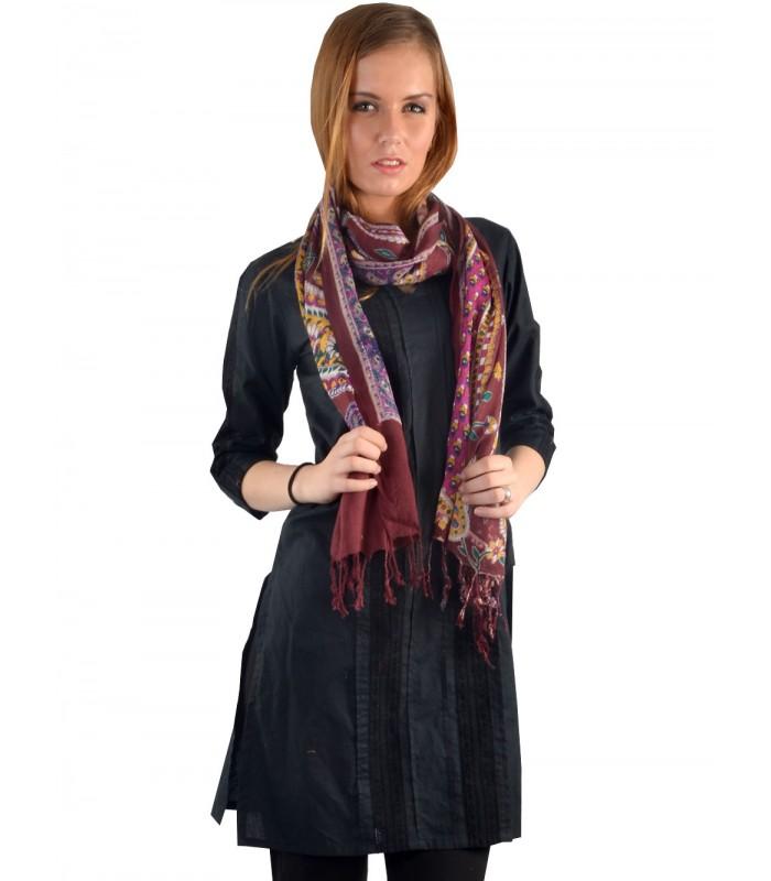 UPTOWN Women's Black Printed Stole - Shawls & Stoles - WINTER WEAR
