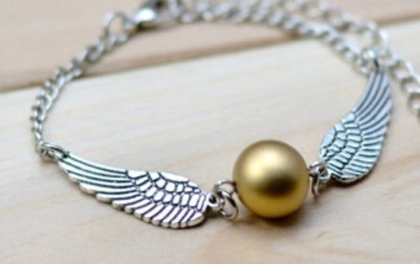 jewels harry potter golden snitch bracelets etsy