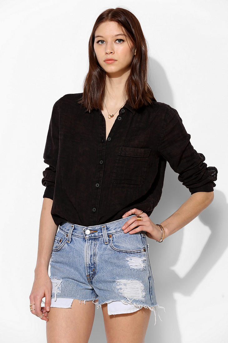 Urban Renewal Destroyed Denim Short - Urban Outfitters