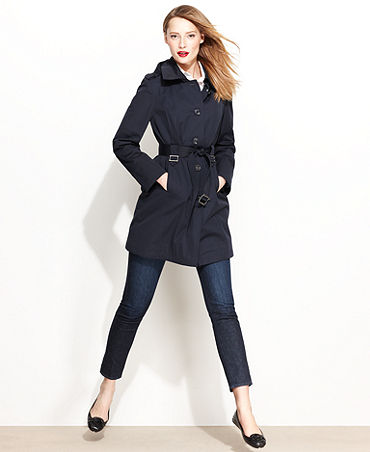 Michael michael kors jacket, hooded trench coat