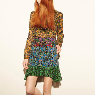 skirt floral skirt coach floral flowers