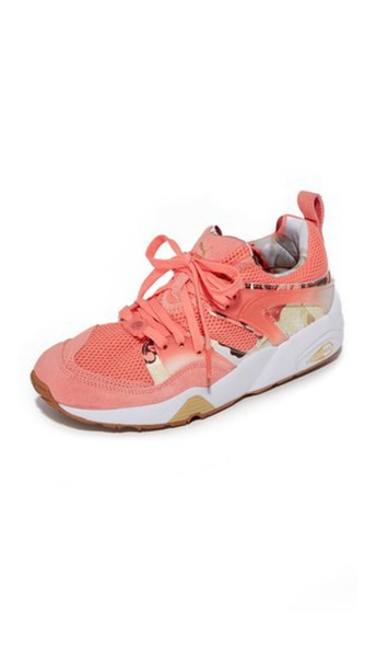 puma rose sneakers white shoes