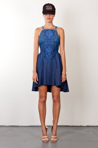 dress denim dress tumbleweeds dress by  three of something