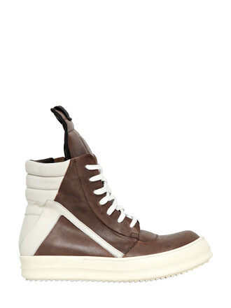 high sneakers high top sneakers leather white taupe shoes