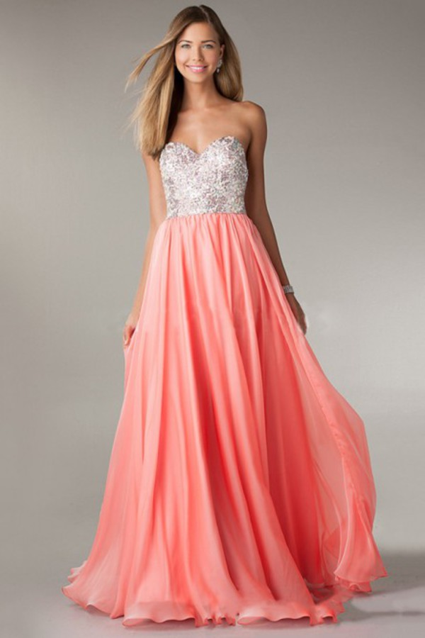 floor length prom dress